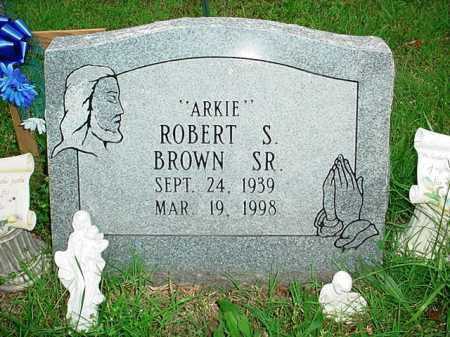 BROWN, ROBERT S. SR. - Benton County, Arkansas | ROBERT S. SR. BROWN - Arkansas Gravestone Photos