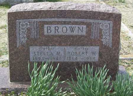 BROWN, ROBERT W. - Benton County, Arkansas | ROBERT W. BROWN - Arkansas Gravestone Photos