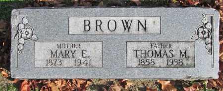 BROWN, THOMAS M. - Benton County, Arkansas   THOMAS M. BROWN - Arkansas Gravestone Photos