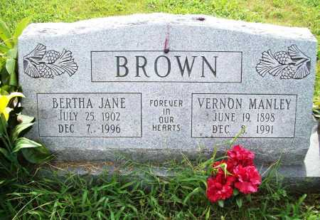 BROWN, VERNON MANLEY - Benton County, Arkansas | VERNON MANLEY BROWN - Arkansas Gravestone Photos