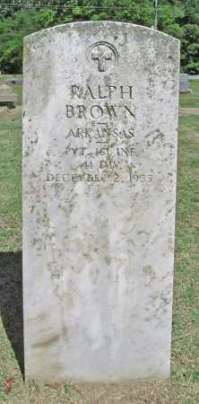 BROWN (VETERAN), RALPH - Benton County, Arkansas | RALPH BROWN (VETERAN) - Arkansas Gravestone Photos