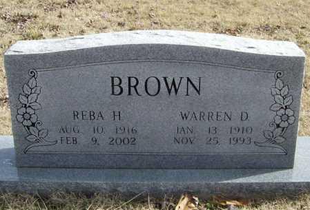 BROWN, WARREN D. - Benton County, Arkansas | WARREN D. BROWN - Arkansas Gravestone Photos