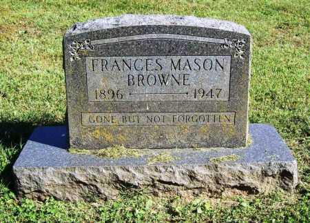 BROWNE, FRANCES MASON - Benton County, Arkansas | FRANCES MASON BROWNE - Arkansas Gravestone Photos