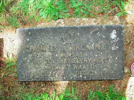 BROWNE, JR (VETERAN WWII), CHARLES A - Benton County, Arkansas   CHARLES A BROWNE, JR (VETERAN WWII) - Arkansas Gravestone Photos