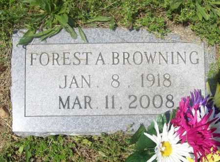 BROWNING, FOREST A. - Benton County, Arkansas   FOREST A. BROWNING - Arkansas Gravestone Photos
