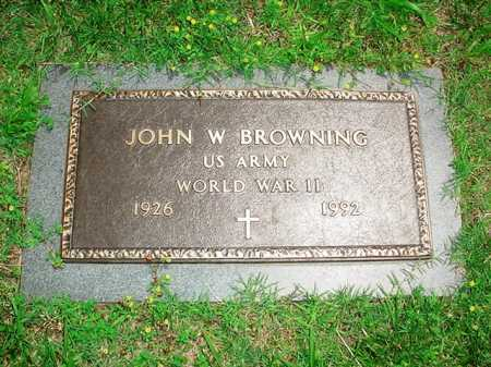 BROWNING (VETERAN WWII), JOHN W. - Benton County, Arkansas | JOHN W. BROWNING (VETERAN WWII) - Arkansas Gravestone Photos