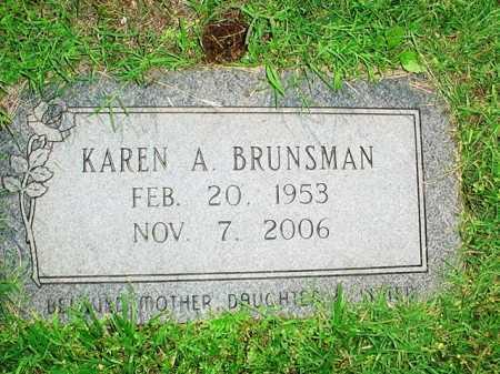 BRUNSMAN, KAREN A. - Benton County, Arkansas | KAREN A. BRUNSMAN - Arkansas Gravestone Photos
