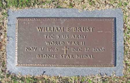 BRUST (VETERAN WWII), WILLIAM E - Benton County, Arkansas | WILLIAM E BRUST (VETERAN WWII) - Arkansas Gravestone Photos