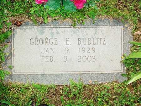 BUBLITZ, GEORGE E. - Benton County, Arkansas | GEORGE E. BUBLITZ - Arkansas Gravestone Photos