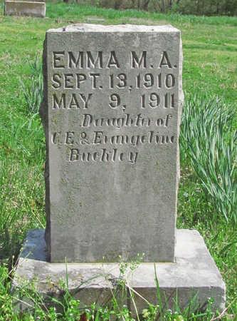 BUCKLEY, EMMA M A - Benton County, Arkansas   EMMA M A BUCKLEY - Arkansas Gravestone Photos