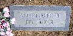 BUFFER, VIOLET - Benton County, Arkansas   VIOLET BUFFER - Arkansas Gravestone Photos