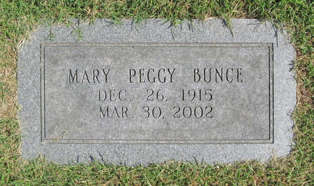 BUNCE, MARY PEGGY - Benton County, Arkansas | MARY PEGGY BUNCE - Arkansas Gravestone Photos
