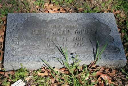 BURGER, IRENE MARIE - Benton County, Arkansas   IRENE MARIE BURGER - Arkansas Gravestone Photos
