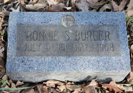 BURGER, RONNIE S. - Benton County, Arkansas | RONNIE S. BURGER - Arkansas Gravestone Photos