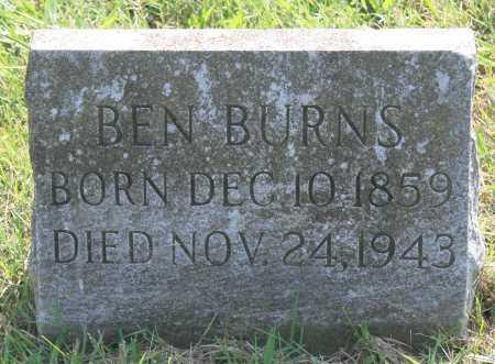 BURNS, BEN - Benton County, Arkansas   BEN BURNS - Arkansas Gravestone Photos