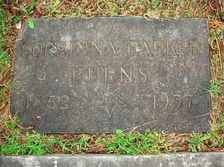PARKER BURNS, CORRINNA - Benton County, Arkansas | CORRINNA PARKER BURNS - Arkansas Gravestone Photos