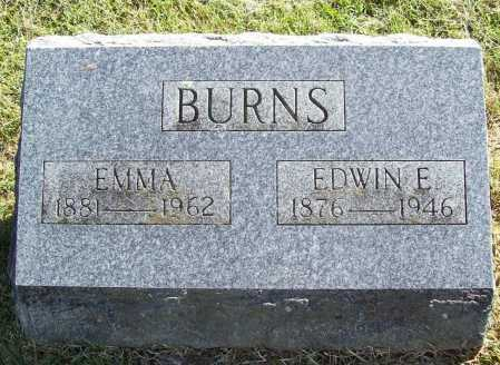BURNS, EMMA - Benton County, Arkansas | EMMA BURNS - Arkansas Gravestone Photos