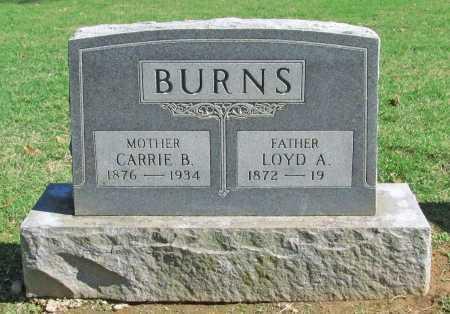 BURNS, LOYD A. - Benton County, Arkansas | LOYD A. BURNS - Arkansas Gravestone Photos