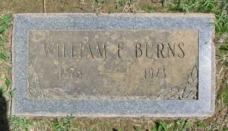 BURNS, WILLIAM F - Benton County, Arkansas   WILLIAM F BURNS - Arkansas Gravestone Photos