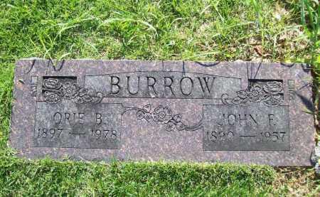 BURROW, ORIE B - Benton County, Arkansas   ORIE B BURROW - Arkansas Gravestone Photos
