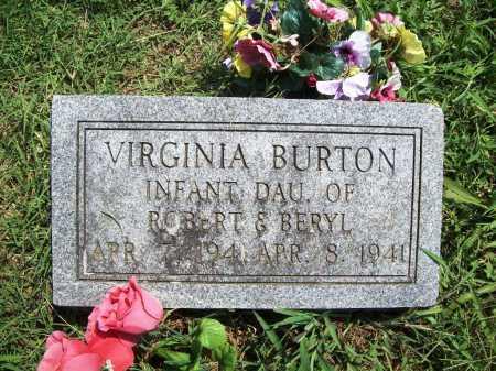 BURTON, VIRGINIA - Benton County, Arkansas | VIRGINIA BURTON - Arkansas Gravestone Photos