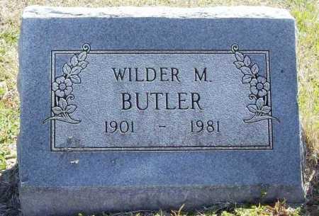 BUTLER, WILDER M. - Benton County, Arkansas | WILDER M. BUTLER - Arkansas Gravestone Photos