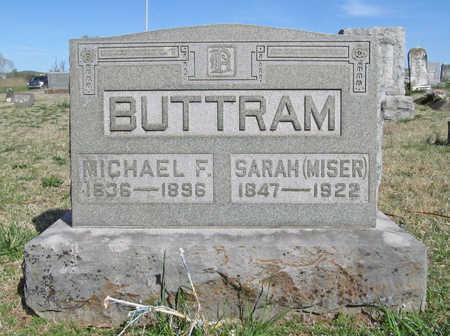 MISER BUTTRAM, SARAH - Benton County, Arkansas | SARAH MISER BUTTRAM - Arkansas Gravestone Photos