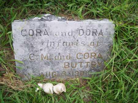 BUTTRY, CORA - Benton County, Arkansas | CORA BUTTRY - Arkansas Gravestone Photos