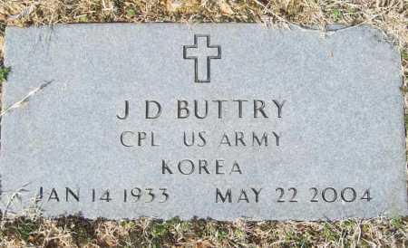 BUTTRY (VETERAN KOR), J D - Benton County, Arkansas   J D BUTTRY (VETERAN KOR) - Arkansas Gravestone Photos