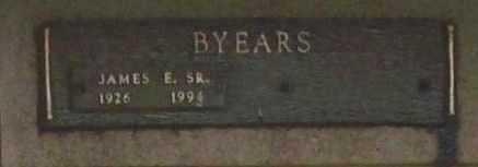 BYEARS, JAMES E. SR. - Benton County, Arkansas   JAMES E. SR. BYEARS - Arkansas Gravestone Photos
