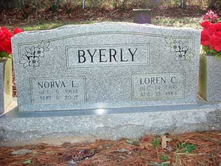 BYERLY, LOREN C. - Benton County, Arkansas | LOREN C. BYERLY - Arkansas Gravestone Photos