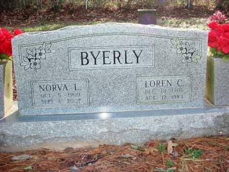 BYERLY, NORVA L. - Benton County, Arkansas | NORVA L. BYERLY - Arkansas Gravestone Photos