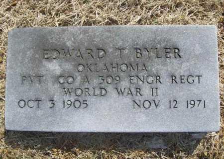 BYLER (VETERAN WWII), EDWARD T - Benton County, Arkansas | EDWARD T BYLER (VETERAN WWII) - Arkansas Gravestone Photos
