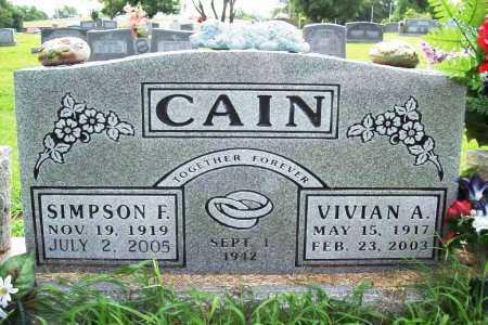 CAIN, VIVIAN A. - Benton County, Arkansas | VIVIAN A. CAIN - Arkansas Gravestone Photos