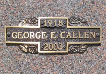 CALLEN, GEORGE E - Benton County, Arkansas | GEORGE E CALLEN - Arkansas Gravestone Photos