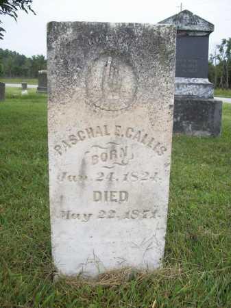 CALLIS, PASCHAL E. SR. - Benton County, Arkansas | PASCHAL E. SR. CALLIS - Arkansas Gravestone Photos