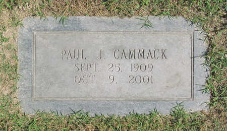 CAMMACK, PAUL J - Benton County, Arkansas | PAUL J CAMMACK - Arkansas Gravestone Photos