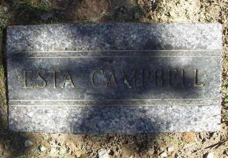 CAMPBELL, ESTA - Benton County, Arkansas | ESTA CAMPBELL - Arkansas Gravestone Photos