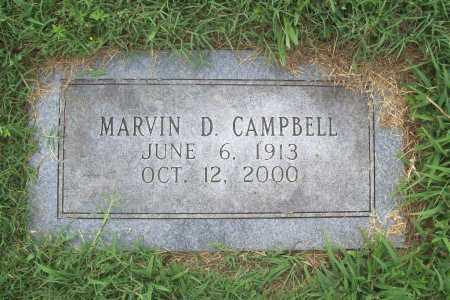 CAMPBELL, MARVIN D. - Benton County, Arkansas | MARVIN D. CAMPBELL - Arkansas Gravestone Photos