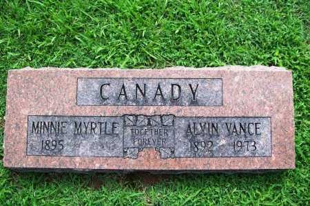 CANADY, MINNIE MYRTLE - Benton County, Arkansas | MINNIE MYRTLE CANADY - Arkansas Gravestone Photos