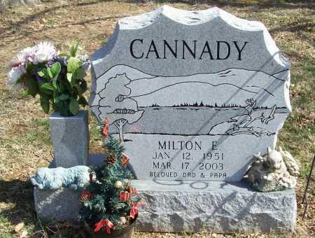 CANNADY, MILTON E. - Benton County, Arkansas | MILTON E. CANNADY - Arkansas Gravestone Photos