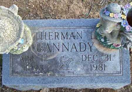 CANNADY, THERMAN L. - Benton County, Arkansas   THERMAN L. CANNADY - Arkansas Gravestone Photos