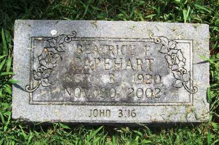 CAPEHART, BEATRICE F. - Benton County, Arkansas | BEATRICE F. CAPEHART - Arkansas Gravestone Photos