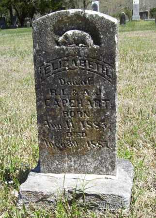 CAPEHART, ELIZABETH - Benton County, Arkansas   ELIZABETH CAPEHART - Arkansas Gravestone Photos