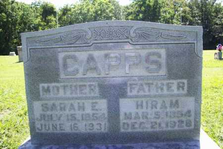 CAPPS, SARAH E. - Benton County, Arkansas | SARAH E. CAPPS - Arkansas Gravestone Photos