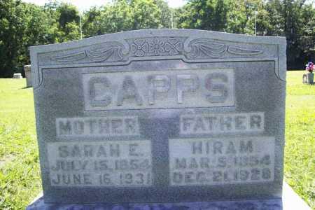CAPPS, HIRAM - Benton County, Arkansas | HIRAM CAPPS - Arkansas Gravestone Photos