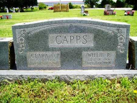 CAPPS, WILLIE R. - Benton County, Arkansas | WILLIE R. CAPPS - Arkansas Gravestone Photos