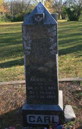CARL, ANNAH G. - Benton County, Arkansas | ANNAH G. CARL - Arkansas Gravestone Photos