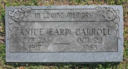 EARP CARROLL, JANICE - Benton County, Arkansas | JANICE EARP CARROLL - Arkansas Gravestone Photos
