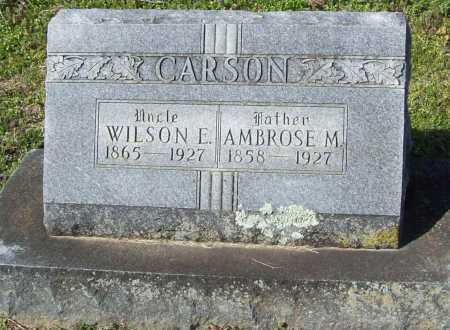 CARSON, AMBROSE M. - Benton County, Arkansas | AMBROSE M. CARSON - Arkansas Gravestone Photos